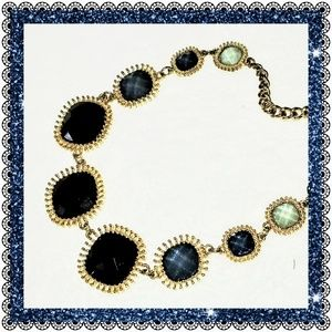 Jewelry - Faceted blue/gold multi-shade statement necklace